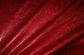 Lamee/Paillette - NB 2213-015 Lamee (rekbaar) folie-achtig rood