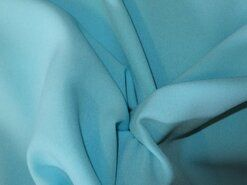 Blauwe gordijnstof - NB 3956-003 Crepe Georgette licht turquoise