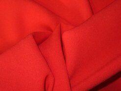 Rode vitrages - NB 3956-015 Crepe Georgette helder rood