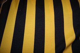 Texture - Jo 3059 Texture carnaval streep breed geel/zwart