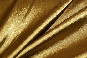 Satijn - NB 4241-080 Satijn stretch donker goud