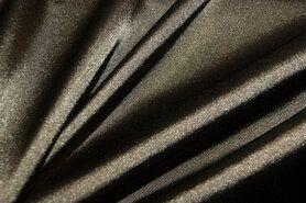 Stretch - NB 4241-026 Satijn stretch heel donker legergroen
