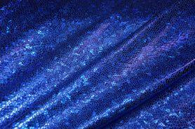 Kunstleer en suedine - NB 2213-005 Lamee (rekbaar) folie-achtig kobalt