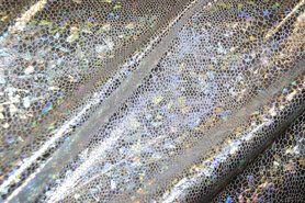 Zilveren stoffen - NB 2213-070 Lamee (rekbaar) folie-achtig zilver