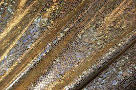 Carnavalsstoffen - NB 2213-080 Lamee (rekbaar) folie-achtig goud