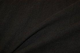 Linnen stof - NB 2155-069 Gewassen Ramie zwart