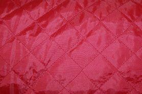 Doorgestikte stof - KN 0168-440 Gestepte voering rood