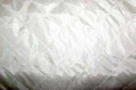 Doorgestikte stof - KN 0168-001 Gestepte voering off-white (uitverkocht)