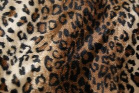 Zachte - Dierenprint 4504-055 Cognac/zwart/beige