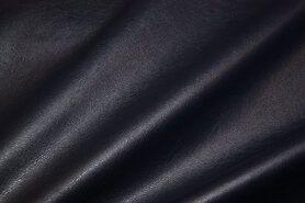 Kunstleer en suedine - NB 3629-008 Kunstleer stretch donkerblauw