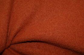 Oranje stoffen - NB 4578-036 Gekookte wol oranje