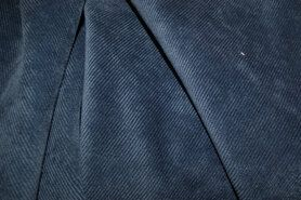lichte stretch - NB 1576-006 Ribcord lichte stretch jeansblauw
