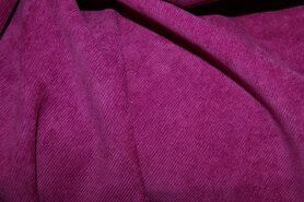 Fluweelachtige stof - NB 1576-017 Ribcord lichte stretch fuchsia/paars