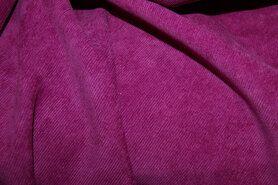 Ribcord en velvet - NB 1576-017 Ribcord stretch fuchsia/paars