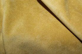 Ribcord en velvet - NB 1576-034 Ribcord stretch okergeel