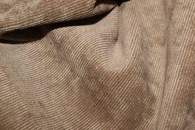 Beige meubelstoffen - NB 1576-053 Ribcord lichte stretch donkerbeige