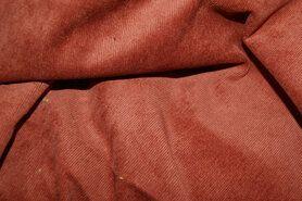Ribcord en velvet - NB 1576-056 Ribcord lichte stretch terra