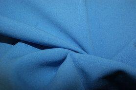 Blauwe vitrages - NB 3956-004 Crepe Georgette turquoise