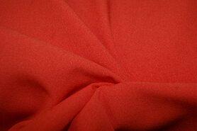 Rode vitrages - NB 3956-036 Crepe Georgette oranje/rood