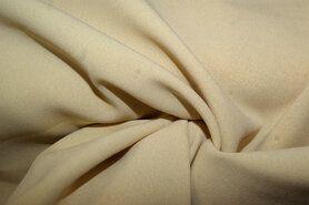 Voile gordijnen - NB 3956-053 Crepe georgette beige/geel
