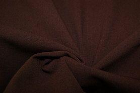 Voile gordijnen - NB 3956-055 Crepe Georgette bruin