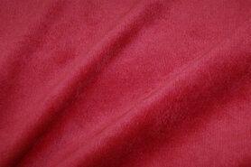 Rode meubelstoffen - Nb 1576-015 ribcord lichte stretch rood