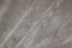 Ribcord en velvet - NB 1576-054 Ribcord lichte stretch grijs