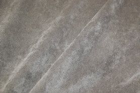 Ribcord en velvet - NB 1576-054 Ribcord stretch grijs