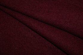 100% wol - NB 4578-018 Gekookte wol bordeaux
