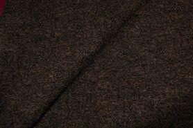 Woll - NB 4578-58 Gekochte Wolle dunkelbraun meliert