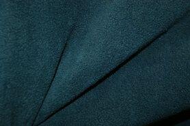 Fleece stoffen - NB 9111-024 Fleece petrol