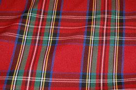 Geruite stof - NB 5193-015 Schotse ruit rood