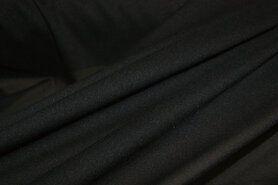 Versteviging/tussenvoering* - Charmeuse zwart (rekbare tussenvoering)*k