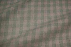 Mondkapjes paneel - NB 5635-022 Katoen Boerenbont ruit mint 1cm