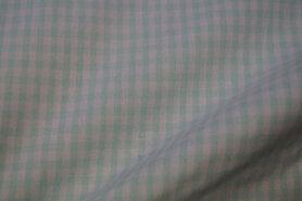 Mondkapjes paneel - NB 5582-022 Boerenbont ruit mint 0,4cm