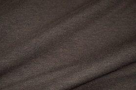 T-Shirt stoffen - Stenzo 18600-333 Tricot bruin-taupe gemeleerd