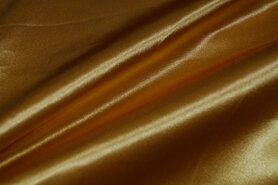 Carnavalsstoffen - NB 4796-080 Satijn geel-goud