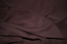 Voile - NB 3969-058 Chiffon uni bruin
