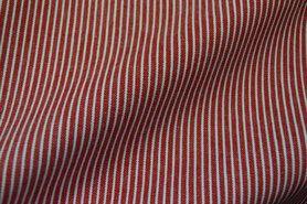 Spijkerstoffen - Ptx 997487-601 Jeans gestreept rood