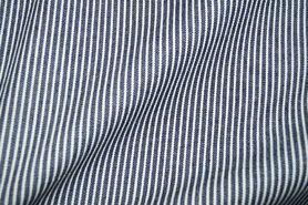 Spijkerstoffen - Ptx 997487-805 Jeans gestreept donkerblauw