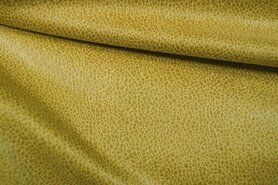Kunstleer en suedine - KN19 0541-575 Unique Leather donker maisgeel