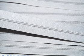 Fijne ritsen - Rits per meter lichtgrijs