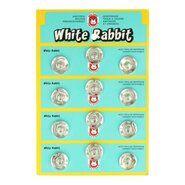 Ronde knopen - Drukknopen zilver 10 mm op rood kaartje (1000)*
