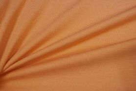T-Shirt stoffen - NB 5438-236 Tricot uni zacht oranje op=op