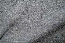 Mantelstof - NB 4578-061 Gekookte wol grijs