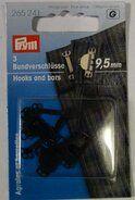 Prym diverse* - *Prym Broekhaken 9,5mm. zwart (265.241)*