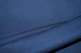 Linnen stof - KN 0591-693 Stretch linnen blauw