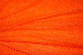 Tule - 999751-192 Rekbare fijne tule oranje