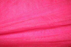 Felroze - 999751-657 Rekbare fijne tule fel roze