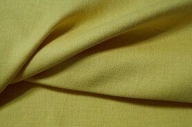 Linnen stof - KN 0591-575 Stretch linnen geel